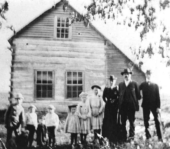 Orbec Sherry & Family at Log Cabin 1903